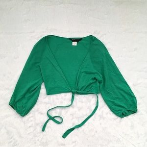 Like New BCBG Green Cardigan Sweater Wrap Shrug